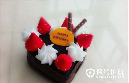 diy不织布蛋糕甜点制作方法/步骤