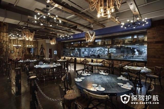 海鲜主题创意餐厅装修效果图案例
