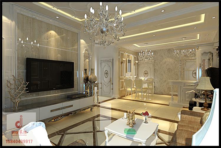 金地名京效果图 88平米两居室现代风格设计