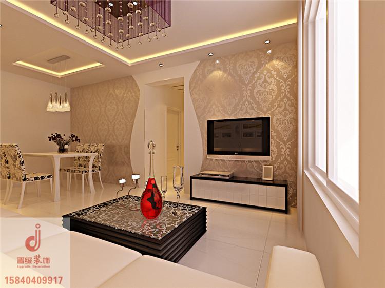 泊岸华庭108平两居室简约风格设计 温馨浪漫