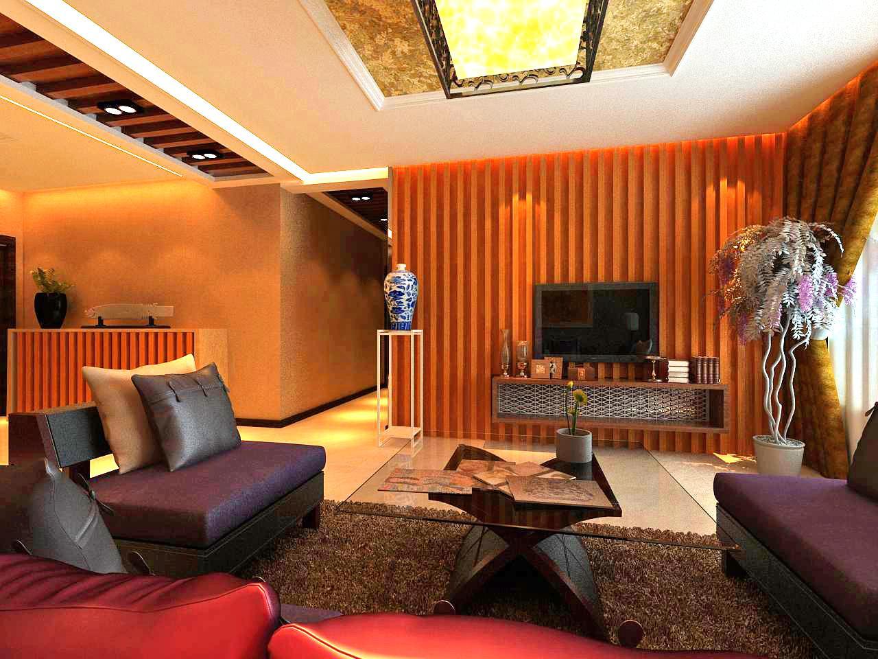《晋级装饰》外滩三号效果图 117平米三居室混搭风格设计风尚