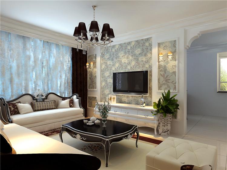 《晋级装饰》名流印象效果图 100平两居室现代时尚风格设计