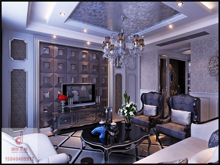 《晋级装饰》奉天九里效果图 140平三居室混搭风格设计