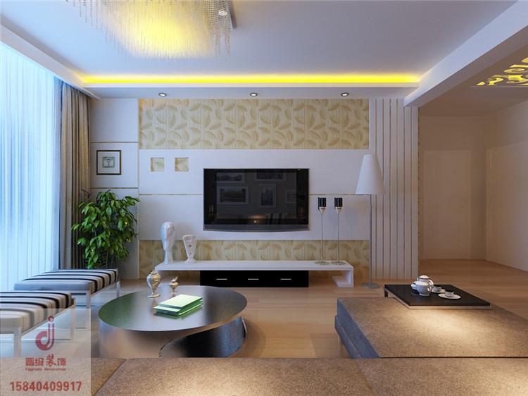 《晋级装饰》金地檀溪效果图 88平两居室现代简约风格设计