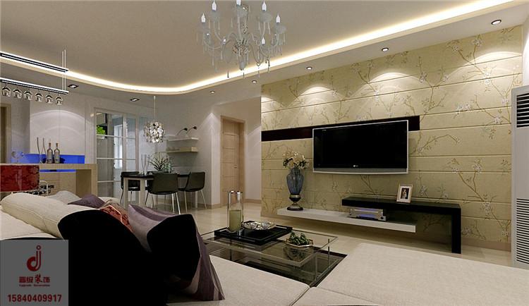 《晋级装饰》名流印象效果图 89平两居室现代简约风格设计