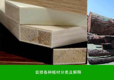 装修各种板材分类及解释