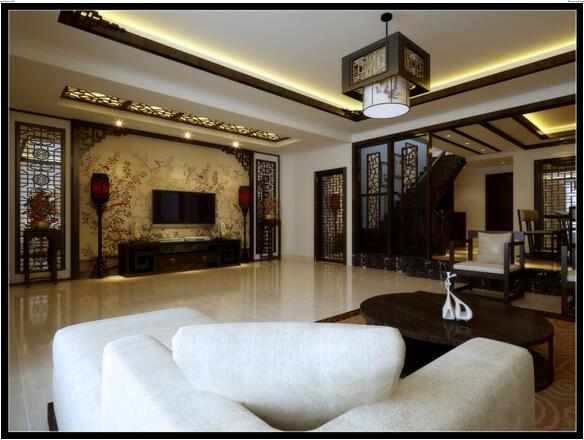 昆明市呈贡区白龙潭浣园192.58平米中式风格跃层户型造价26万