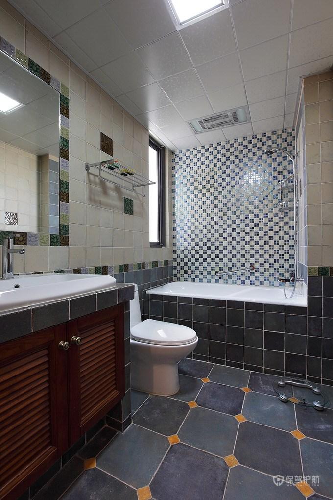 130平温馨地中海风三居室卫生间装修效果图