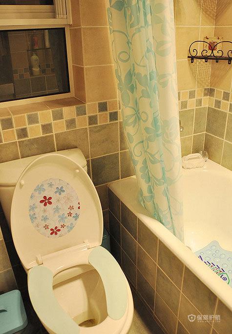 现代风格两室一厅5平米卫生间瓷砖墙面效果图