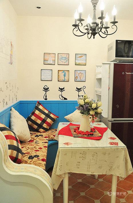 摩洛哥风格两室两厅10平米客厅简约装修效果图