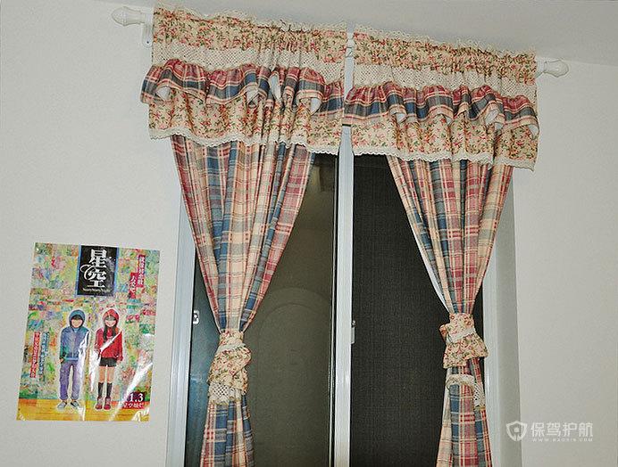现代风格超小户型一居室卧室窗帘软装效果图