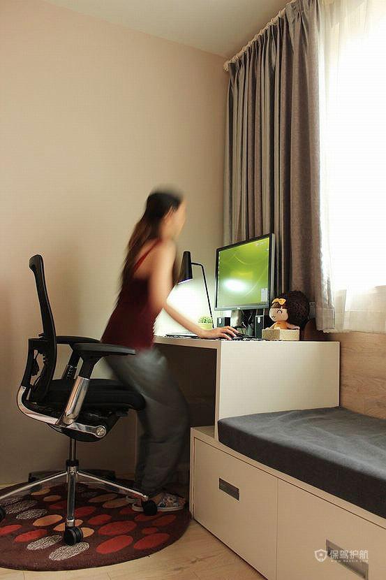 简约风格一居室30平米卧室榻榻米装潢效果图
