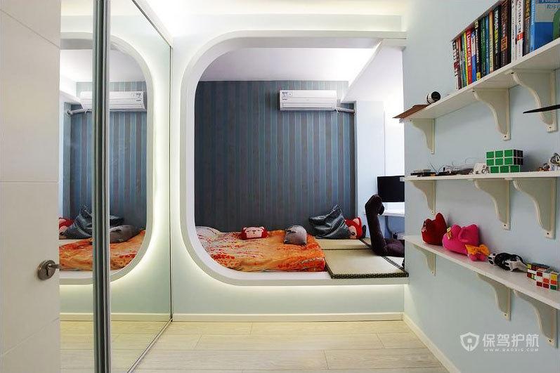 后现代风格两室两厅20平米卧室榻榻米效果图
