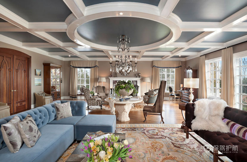 大气上档次 现代欧式风格客厅 ,欧式客厅,客厅沙发,客厅灯,客厅,水晶灯,沙发,吊顶