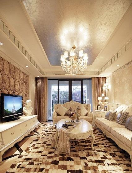 欧式风格客厅 ,欧式客厅,客厅沙发,客厅灯,客厅,水晶灯,电视柜,茶几