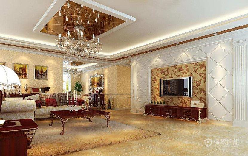 豪华  现代欧式风格客厅 ,欧式客厅,客厅沙发,客厅灯,客厅,电视背景墙