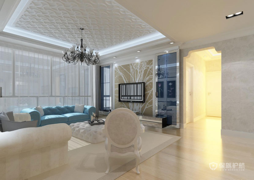 简单大气  现代欧式风格客厅 ,欧式客厅,客厅沙发,客厅灯,客厅,吊顶,电视背景墙
