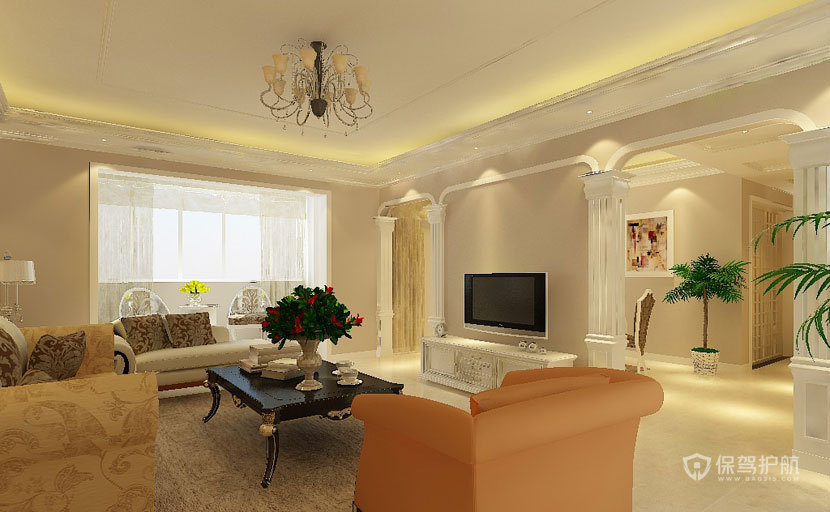 低调中的奢华  现代欧式风格客厅 ,欧式客厅,客厅沙发,客厅灯,客厅,电视背景墙