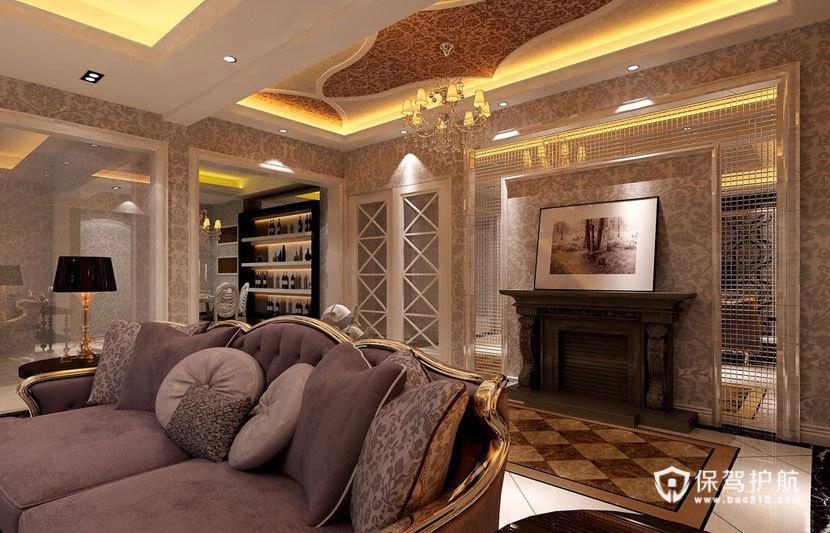 典雅华丽  现代欧式风格客厅 ,欧式客厅,客厅沙发,客厅灯,客厅,吊顶