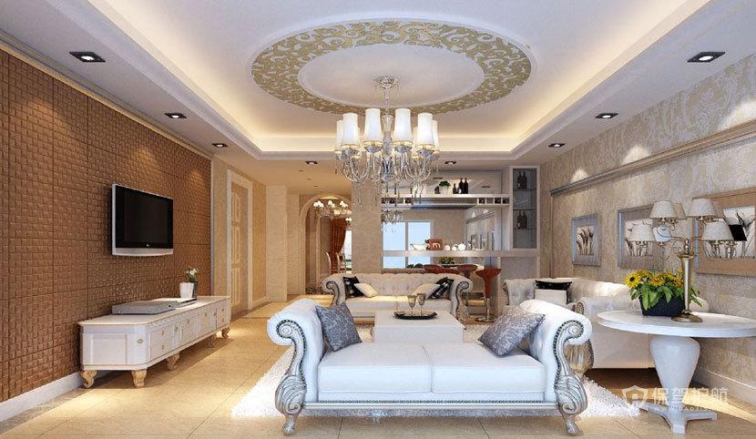 大气装潢  现代欧式风格客厅 ,欧式客厅,客厅沙发,客厅灯,客厅,电视背景墙,吊顶