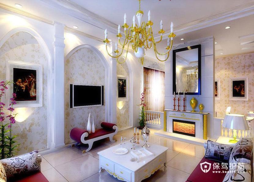 精致  现代欧式风格客厅 ,欧式客厅,客厅沙发,客厅灯,客厅,电视背景墙,水晶灯