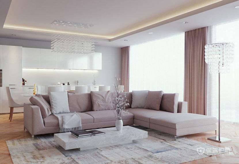 时代感强的  现代欧式风格客厅 ,欧式客厅,客厅沙发,客厅灯,客厅
