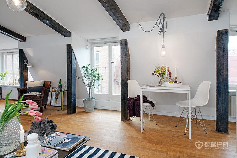 温馨可爱的阁楼公寓  家的温暖港湾 ,阁楼,公寓装修,温馨,黑白,阳光房