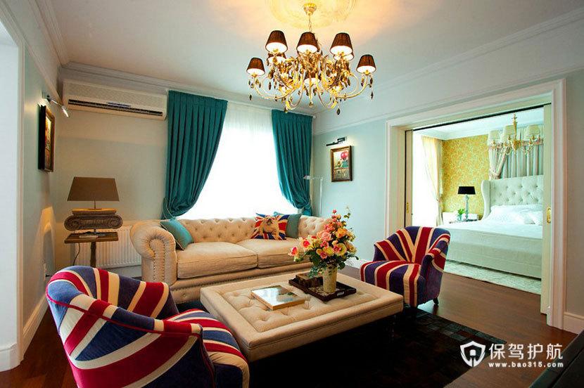 英伦风+艺术风来袭  100平米彰显皇室风范 ,英伦风格,艺术,民族风,一室一厅装修,100平米装修,浪漫,温馨