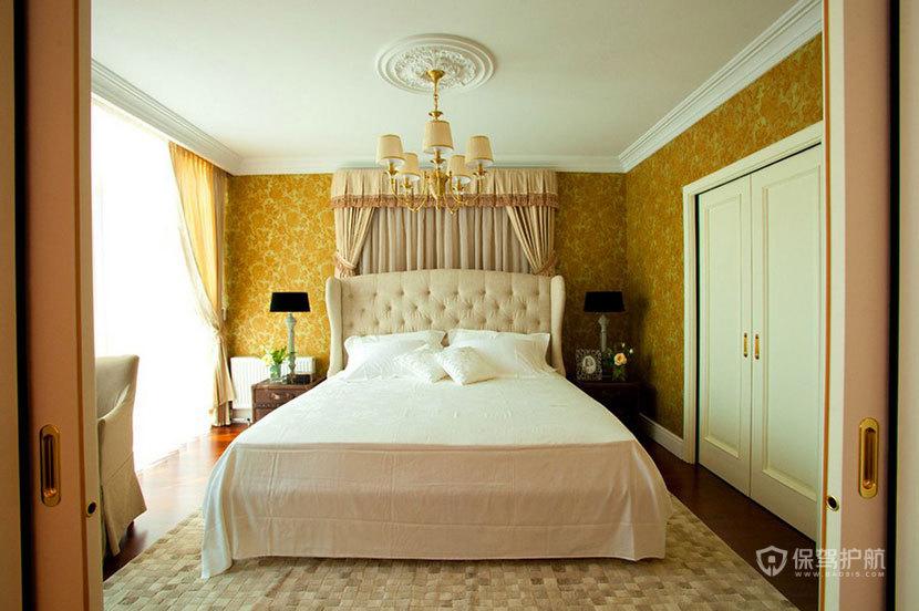英伦风+艺术风来袭  100平米彰显皇室风范 ,英伦风格,艺术,民族风,一室一厅装修,100平米装修,卧室,床,温馨,唯美