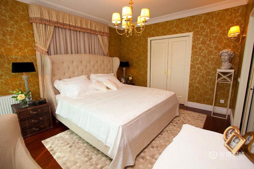 100平巴洛克风三室一厅卧室装修效果图