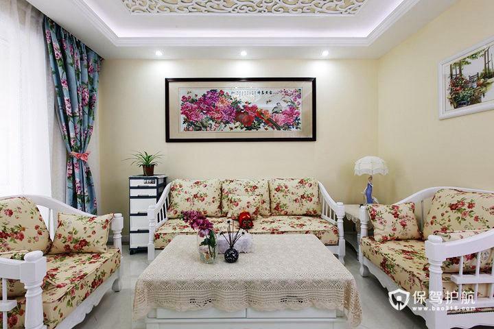 田园风来袭 85平米两居室横空出世 80平米装修,10-15万装修,小清新,田园风格,两室一厅装修,温馨,沙发,客厅沙发