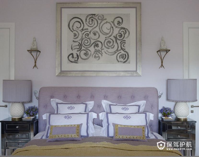 颜色与图案的完美搭配  四口之家的阳光与欢乐 艺术,三室两厅装修,美式风格,客厅,床