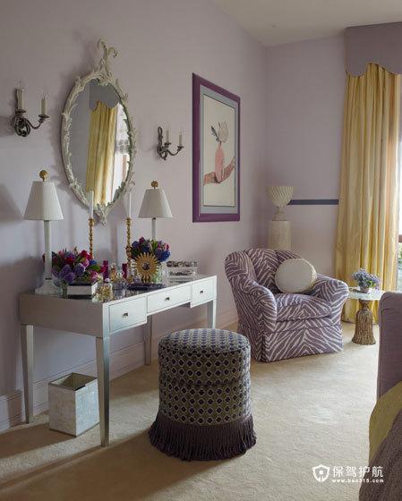 颜色与图案的完美搭配  四口之家的阳光与欢乐 艺术,三室两厅装修,美式风格,梳妆台
