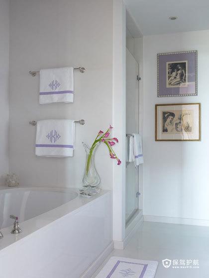 颜色与图案的完美搭配  四口之家的阳光与欢乐 艺术,三室两厅装修,美式风格,浴缸