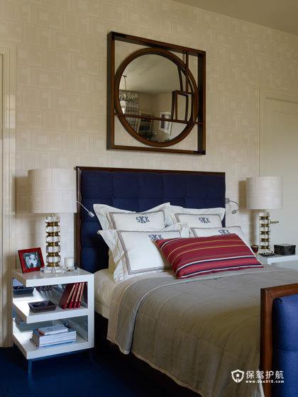 颜色与图案的完美搭配  四口之家的阳光与欢乐 艺术,三室两厅装修,美式风格,卧室