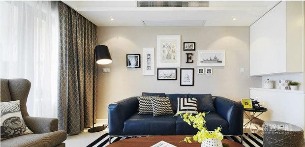 现代风格两室一厅公寓20平米客厅沙发搭配效果图