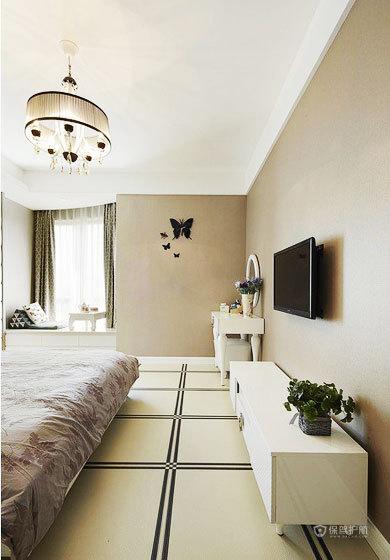 美式风格三室一厅20平米卧室灯具软装效果图