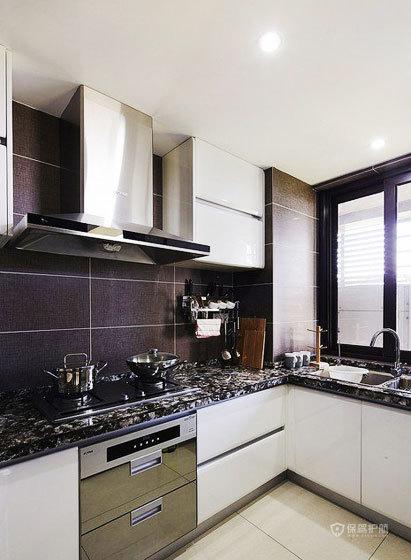 现代风格三室一厅10平米厨房橱柜安装效果图