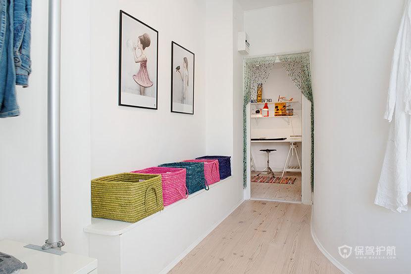 北欧风格一室一厅过道简约装潢效果图