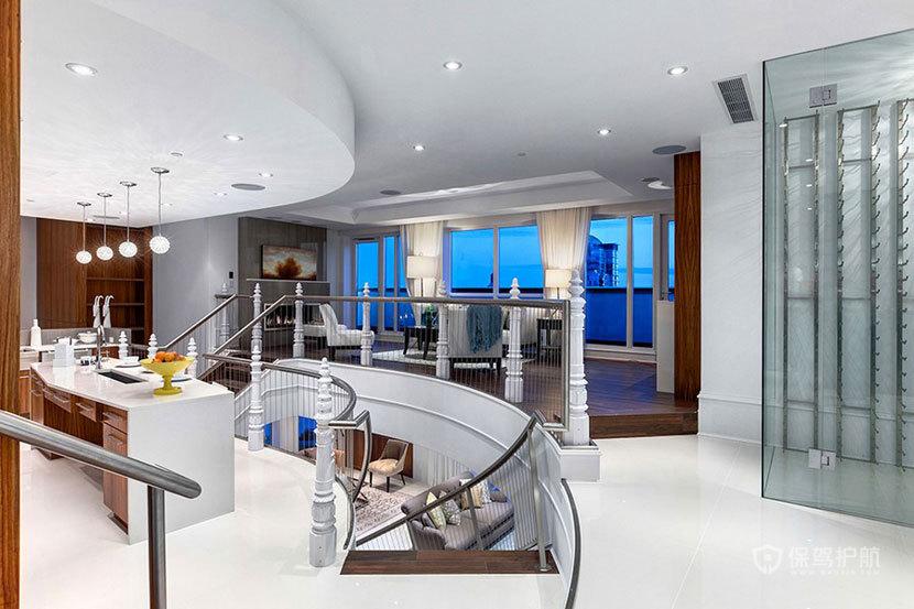 三室一厅复式房 360度俯瞰全景 ,三室一厅装修,复式装修,豪华,楼梯