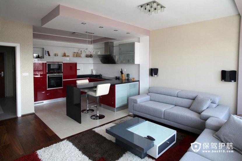 现代简约风格 打造两室一厅温馨小家