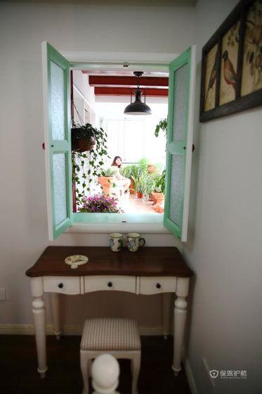 田园风格公寓卧室窗户装潢效果图