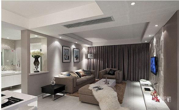 简约风格公寓客厅软装搭配装修效果图