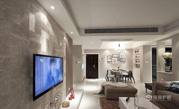 三室一厅现代简约风玄关装修实景图