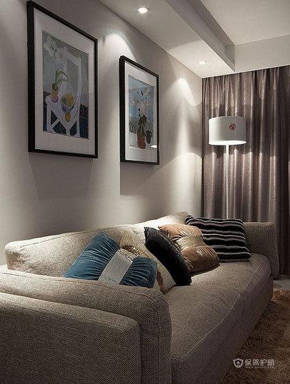 现代简约风格客厅沙发背景墙装修效果图