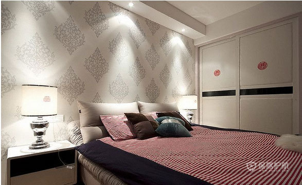 三室一厅欧式风格卧室装修实景图