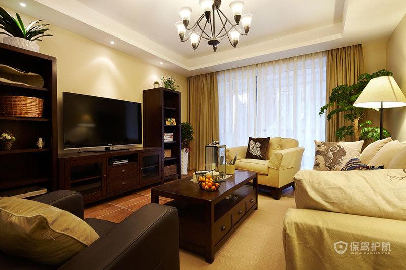 意大利风格公寓20平客厅简约家具软装搭配效果图