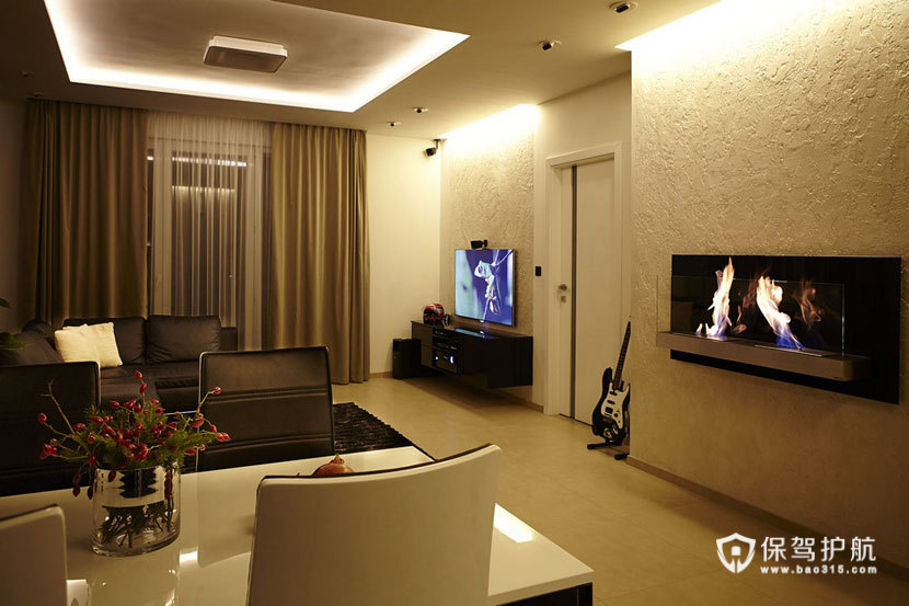 70平米单身公寓 黑与白的优雅简约