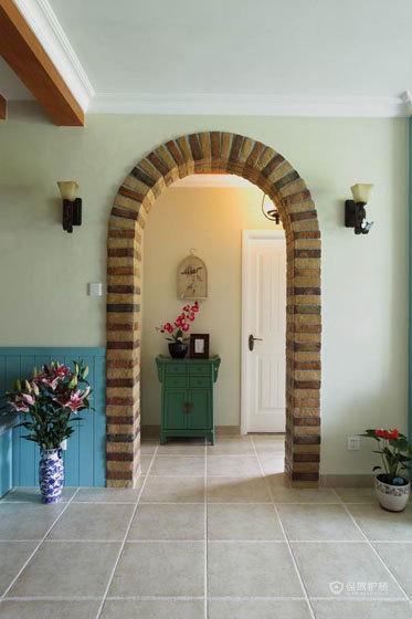 四室一厅摩洛哥风格客厅拱形门效果图