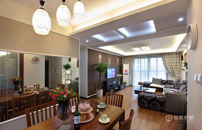空间大利用 85㎡简约婚房 ,简约风格,现代简约风格,婚房装修,小户型装修,80平米装修,餐厅